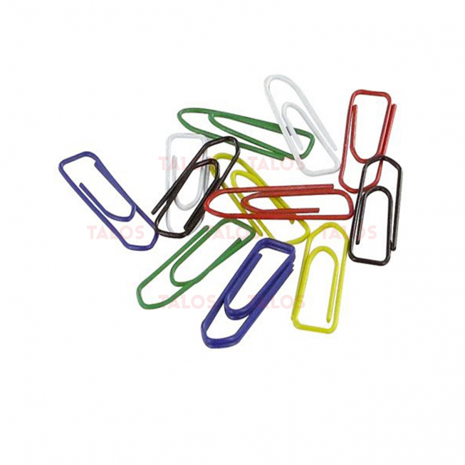 Trombone 28 mm couleur assorties paquet de 50