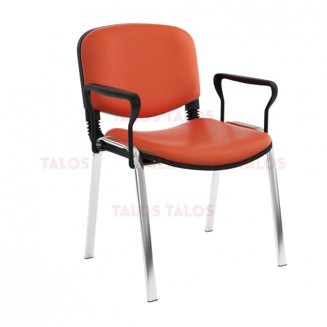 Chaise Iso Structure Chromé avec Accoudoirs