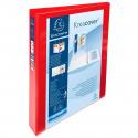 Classeur Exacompta Pvc rouge personnalisable à 4 anneaux dos 50