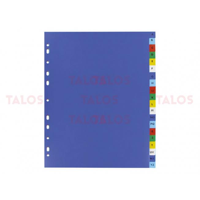Intercalaire A4 polypropylène alphabétique 20 onglets