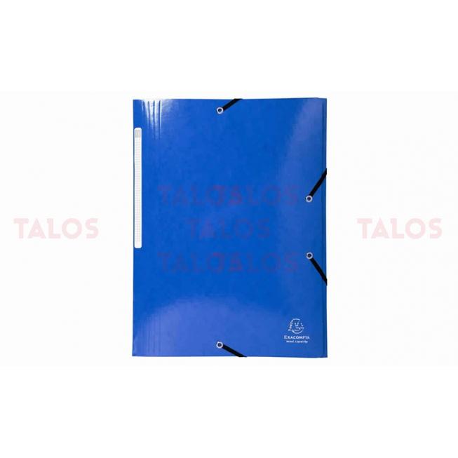 Chemise 3 rabats Exacompta cartonnés bleu