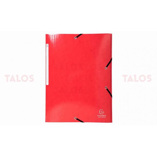 Chemise 3 rabats Exacompta cartonnés rouge