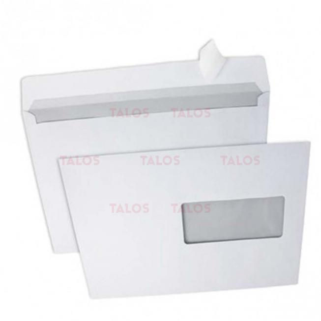 Enveloppe blanche avec fenêtre bande adhésive 80 Gr