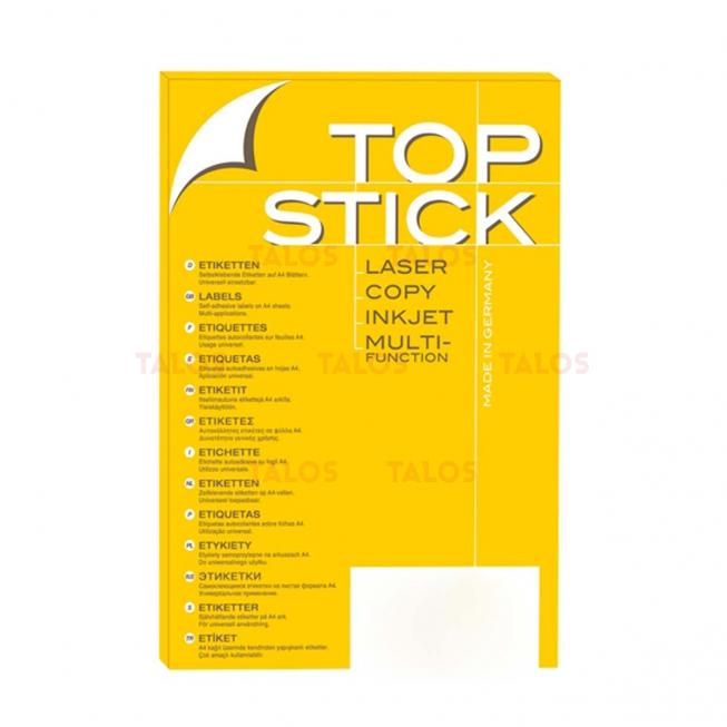 Etiquette Top stick 70 x 37 mm (A4/24) Paquet de 100