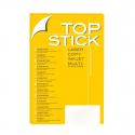 Etiquette Top stick 105 x 37 mm (A4/16) Paquet de 100