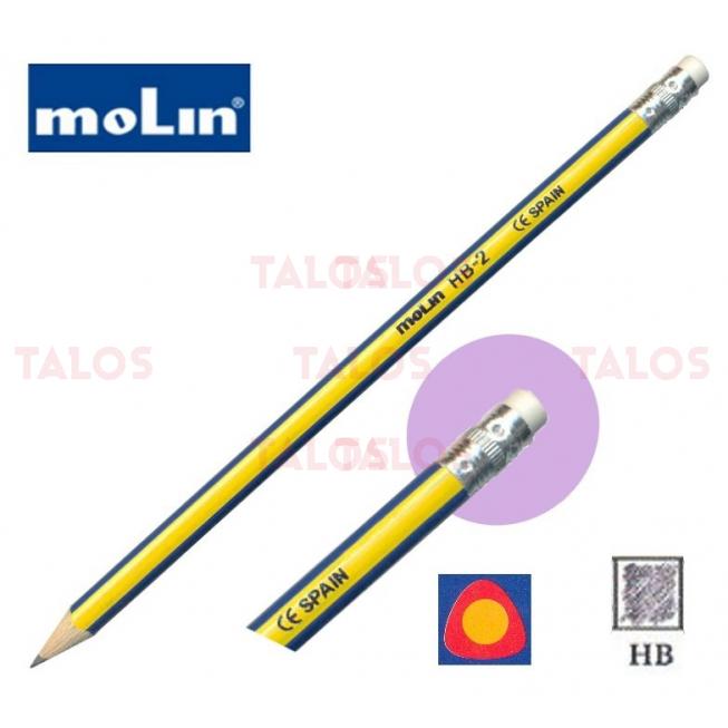 Crayon HB avec gomme Molin
