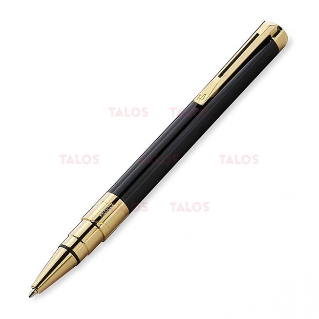 Stylo à bille perspective noir laqué dorée