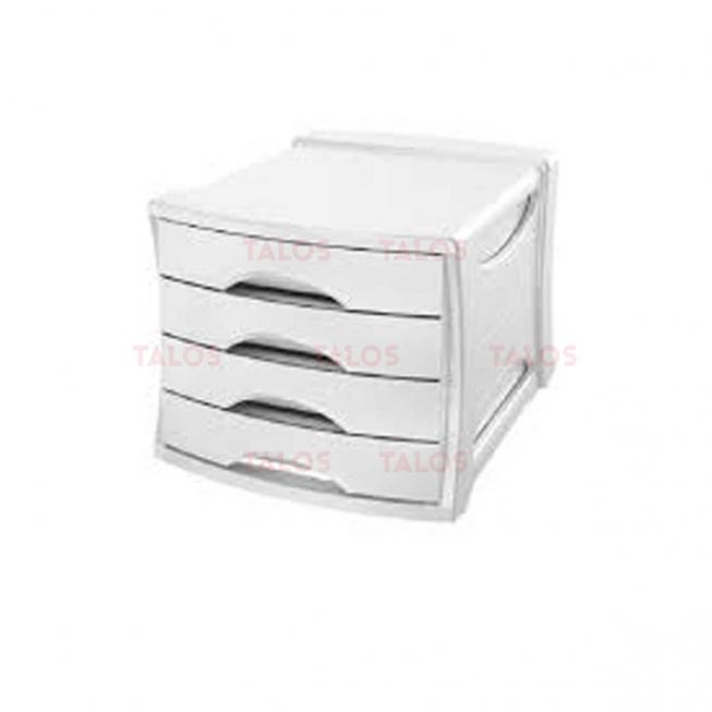 Bloc de 4 tiroirs My desk blanc Arda