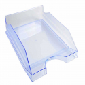 Bac à courrier superposable Ecotray Exacompta transparent bleu