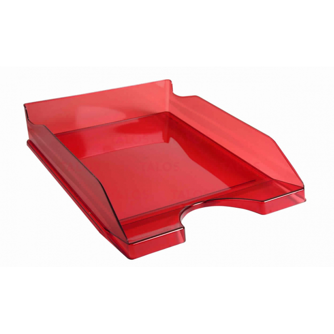 Bac à courrier superposable Ecotray Exacompta transparent rouge