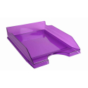 Bac à courrier superposable Ecotray Exacompta transparent violet
