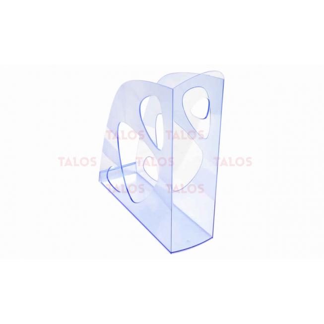 Porte revue Ecomag transparent bleu glacé