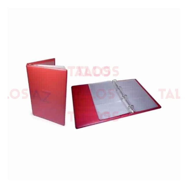 Porte carte visite Apli avec anneaux rouge