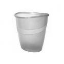 Corbeille à papier Arda transparent gris 16 litre
