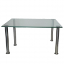 Table basse Diva socle inox