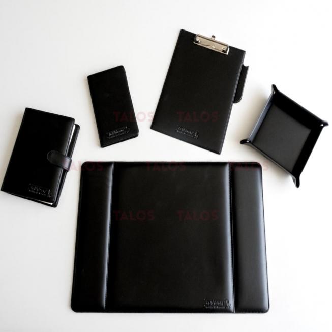 Kit Sous-Main 5 Pièces avec logo Noir