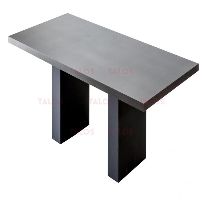 Table de réunion Cuba Wengué 240x120 piètements en simili cuir