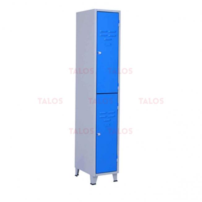 Vestiaire métallique à 2 Cases H/1850 L/300 P/450