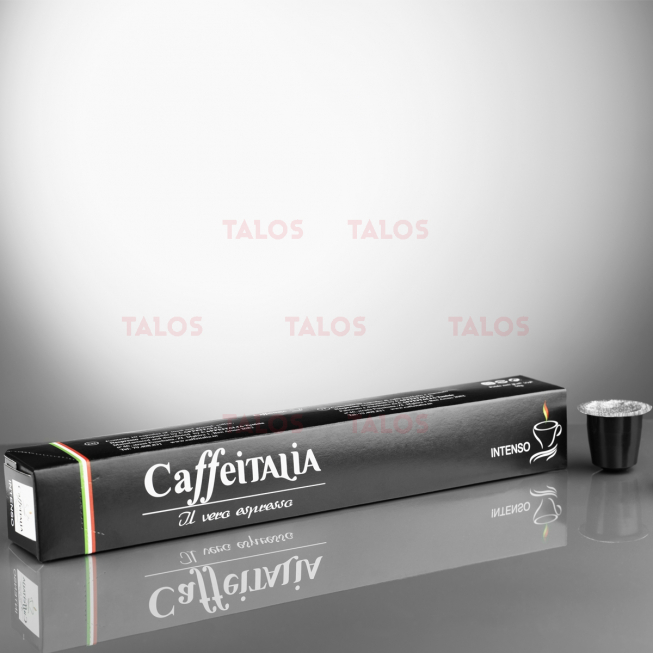Paquet de 10 Capsules café CAFFÉITALIA compatible NESPRESSO INTENSO