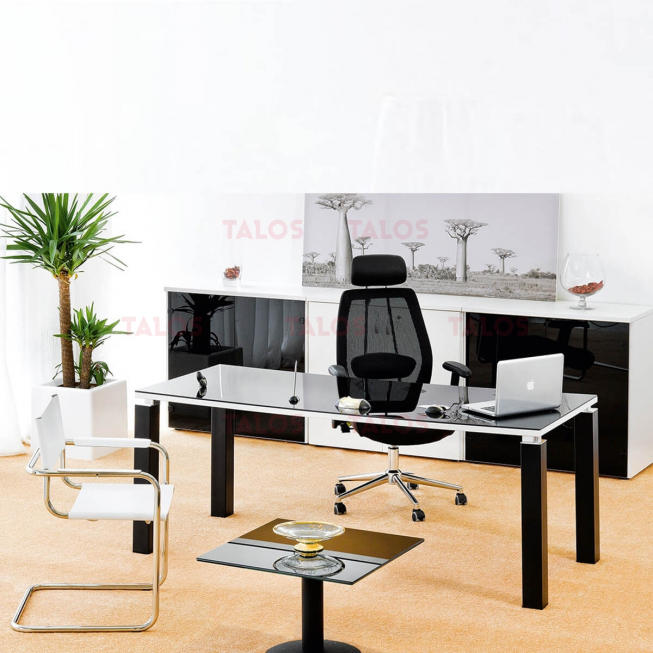 Bureau Mix 150 piétements Chromé