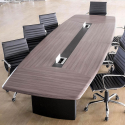 Table de réunion Iris en PVC 7m