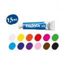 Boîte de 12 tubes gouaches CARIOCA - couleurs assorties