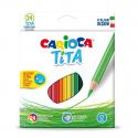 Boite de 24 crayons de couleurs CARIOCA TITA