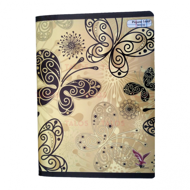 Cahier piqure 24x32 seyes 144 pages Vilaluxe