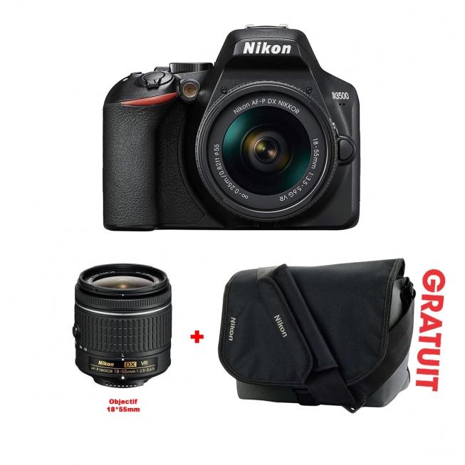 Appareil Photo NIKON D3500 + Objectif 18X55mm +Sacoche gratuit