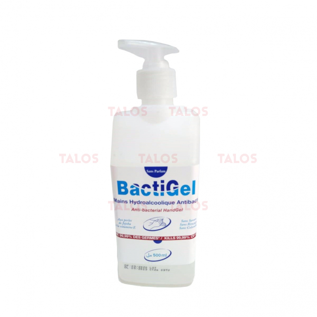 Gel HYDROALCOOLIQUE BACTIGEL NEUTRE EN FLACON 500ml